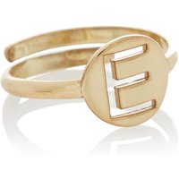 LOTT- gioielli Verstelbare ring Initial E verguld