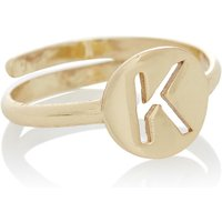 LOTT- gioielli Verstelbare ring Initial K verguld