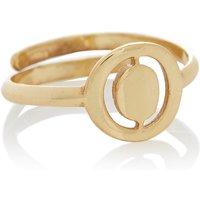 LOTT- gioielli Verstelbare ring Initial O verguld