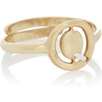 LOTT- gioielli Verstelbare ring Initial Q verguld