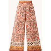 MANGO Saffron high waist wide fit palazzo broek met print