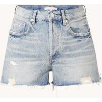 Maje Instinct high waist straight fit korte broek met ripped details