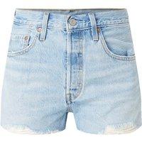 Levi's 501 high waist korte spijkerbroek met gerafelde zoom