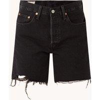 Levi's 501 High waist straight fit korte spijkerbroek