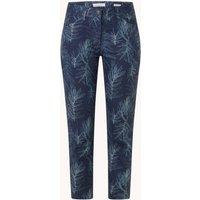 Gerry Weber Mid waist skinny fit cropped jeans met bladprint