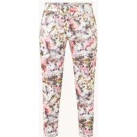 Gerry Weber Mid waist skinny fit cropped jeans met bloemenprint