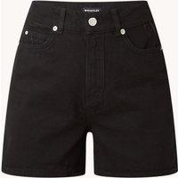 Whistles High waist straight fit korte broek van denim