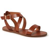 Dune London Leelah sandaal van leer