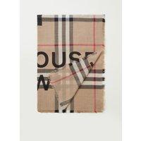 BURBERRY Giant Gauze Check sjaal in zijdeblend 140 x 140 cm