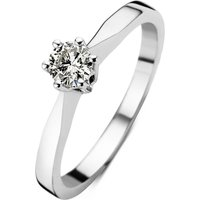 Diamond Point Witgouden solitair groeibriljant ring, 0-14 ct- 0-14 ct diamant Groeibriljant