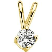 Diamond Point Geelgouden solitair groeibriljant hanger, 0-09 ct- 0-09 ct diamant Groeibriljant