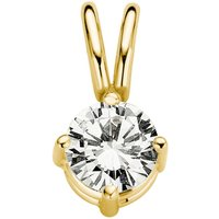 Diamond Point Geelgouden solitair groeibriljant hanger, 0-23 ct- 0-23 ct diamant Groeibriljant