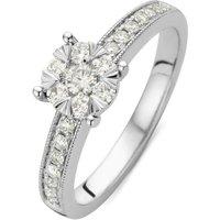 Diamond Point Ring van 14 karaat witgoud met 0-40 ct diamant Enchanted