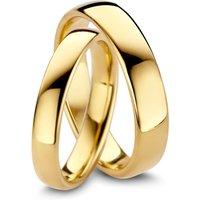 Diamond Point Geelgouden trouwring dames