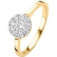 Diamond Point Gouden ring 0-42 ct diamant Hearts & Arrows