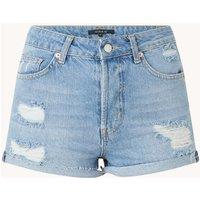 NIKKIE High waist slim fit korte broek van denim met ripped details