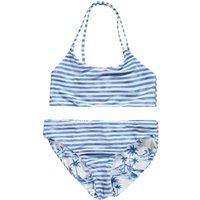 Seafolly Reversible bikini met streep en eilanddessin
