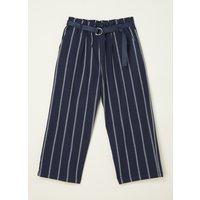 Tommy Hilfiger Straight fit pantalon met streepprint en ceintuur