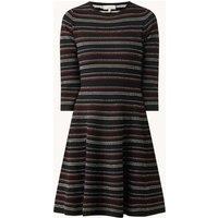 Hobbs Katie mini jurk met streepprint en structuur
