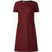 Hobbs Tallulah mini jurk van wol met ruitdessin