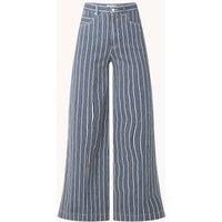 Vanilia High waist loose fit jeans met streepprint
