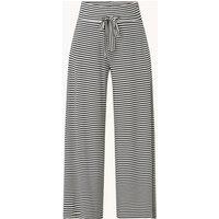 Vanilia High waist wide fit palazzobroek met streepprint