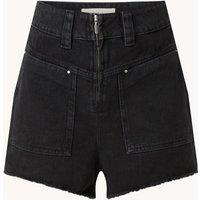 ba&sh David high waist straight fit korte broek van denim met steekzakken