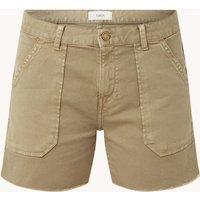 ba&sh Cselby mid waist slim fit korte broek van denim met steekzakken