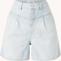 ba&sh Josh high waist straight fit korte broek van denim