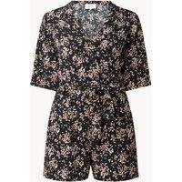ba&sh Vinity mini blousejurk met bloemenprint en strikceintuur