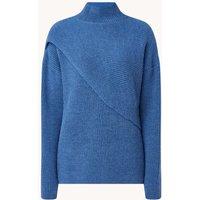 Ted Baker Grofgebreide trui van wol met opstaande kraag
