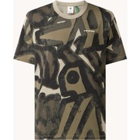 G-Star RAW Brushed Object T-shirt van biologisch katoen met print