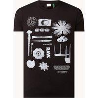 G-Star RAW T-shirt van biologisch katoen met frontprint