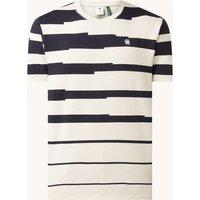 G-Star RAW Pixalated Stripe T-shirt van biologisch katoen met streepprint