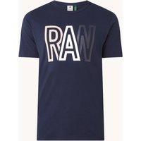 G-Star RAW T-shirt van biologisch katoen met logoprint