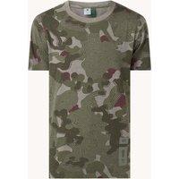 G-Star RAW T-shirt van biologisch katoen met camouflage print