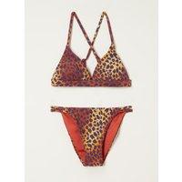 Barts Pebbly bikini met panterprint
