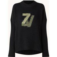 Zadig&Voltaire Malta fijngebreide trui van wol met logo