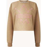 adidas Cropped sweater met logoborduring