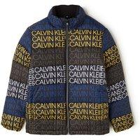Calvin Klein Puffer jack met kleurrijke logoprint