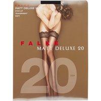 Falke Matt Deluxe stay-ups in 20 denier black