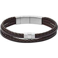 Fossil Tennisarmband van leer JF02934040