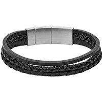 Fossil Tennisarmband van leer JF02935001