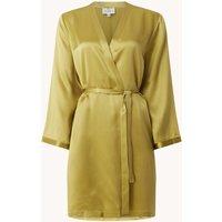 Marjolaine Laser kimono met steekzakken van zijde