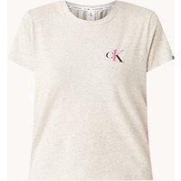 Calvin Klein Pyjamatop in mêlée met logoprint