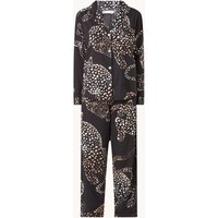 Desmond & Dempsey Pyjamaset met panterprint