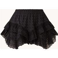 Isabel Marant Étoile Teocaida high waist wide fit mini skort met broderie