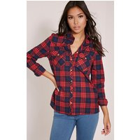 Rosanna Red Checked Shirt, Red