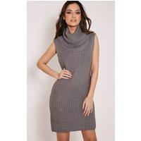 kadence-grey-roll-neck-jumper-dress-grey