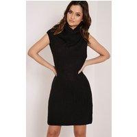 kadence-black-roll-neck-jumper-dress-black